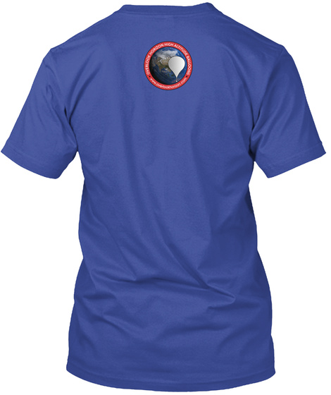Where's Shrimpy?! Deep Royal T-Shirt Back