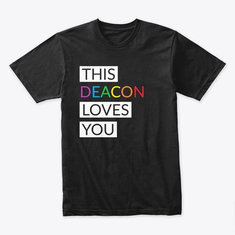 Pride Shirts   Deacon Black T-Shirt Front