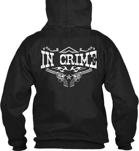 Babygirl In Crime Black Sweatshirt Back