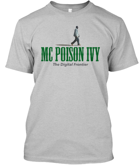 Mc Poison Ivy The Digital Frontier Light Heather Grey  T-Shirt Front