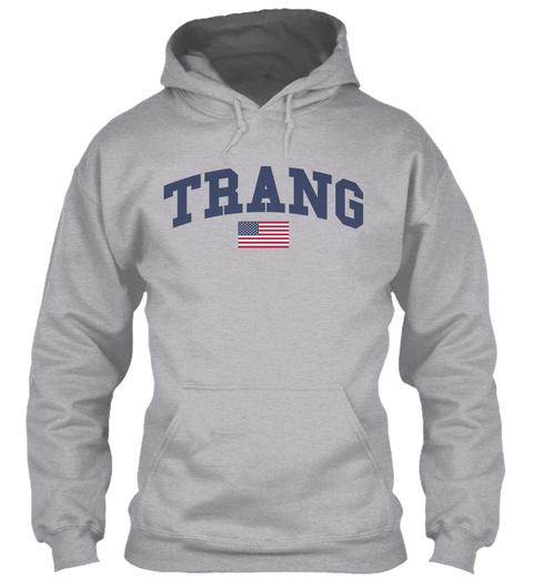 Trang Family Flag Sport Grey T-Shirt Front