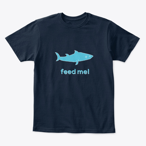 Shark Shirts New Navy T-Shirt Front