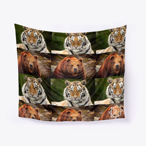 Tiger & Bear White T-Shirt Front