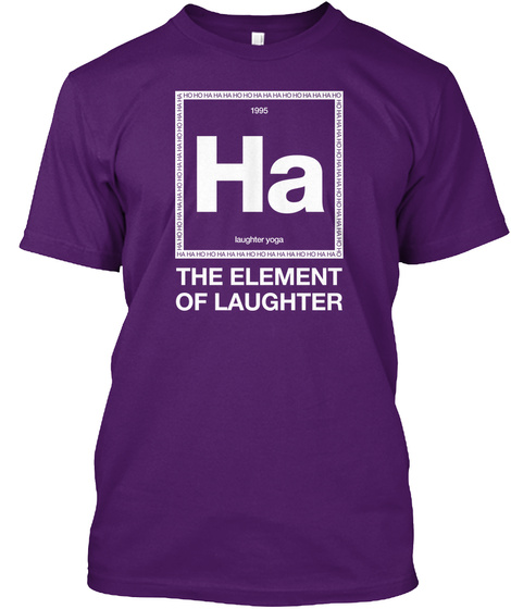 1995 Ha Laughter Yoga The Element Of Laughter Purple T-Shirt Front