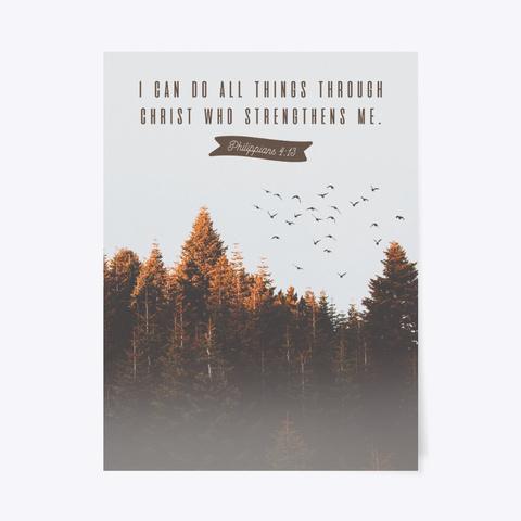 Philippians 4:13 Poster Standard T-Shirt Front
