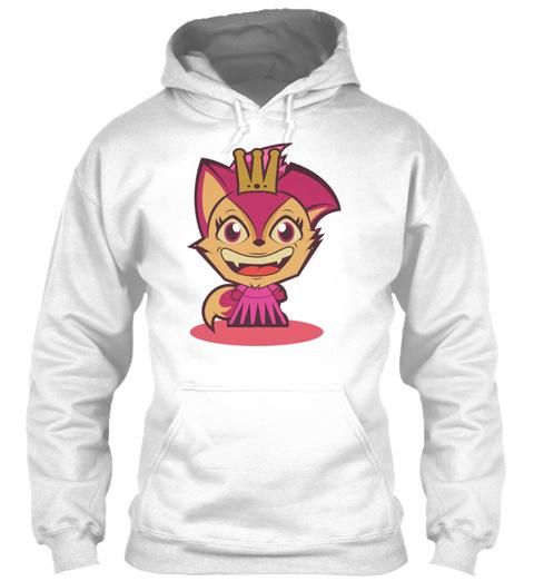 Queen Fox White T-Shirt Front
