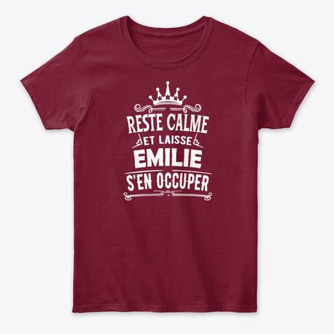 Reste Calme Emilie S'en Occuper Cardinal Red T-Shirt Front