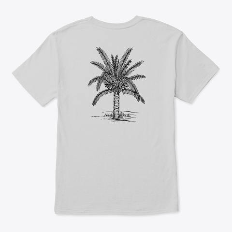 Palm Light Steel T-Shirt Back