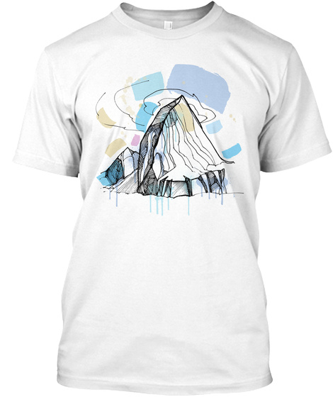 Alchemical Mountain White T-Shirt Front