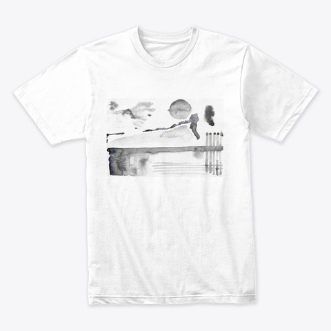 Wear Original Abstract Artwork  White T-Shirt Front