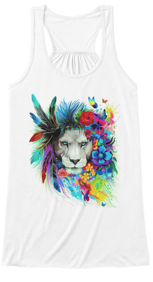 The Beautiful Tiger   Art Hobby White T-Shirt Front