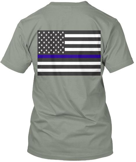 I Support Law Enforcement Grey T-Shirt Back