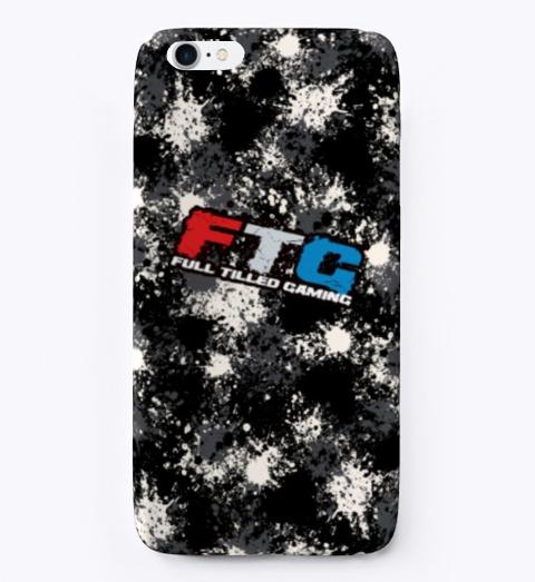 Ftg Splatter Phone Case Black T-Shirt Front