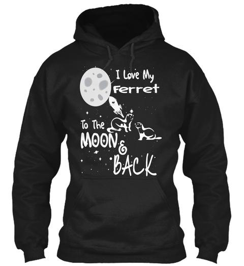 Ferret Art T Shirt Black T-Shirt Front