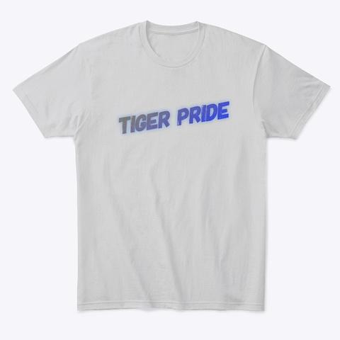 Tiger Pride Light Heather Grey  T-Shirt Front