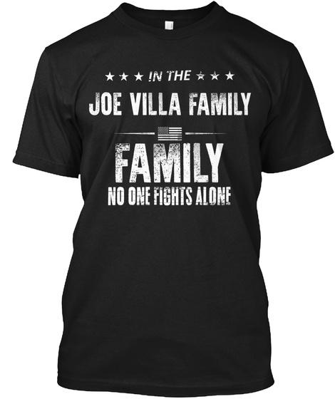 In The Joe Villa Family Family No One Flights Alone Black T-Shirt Front