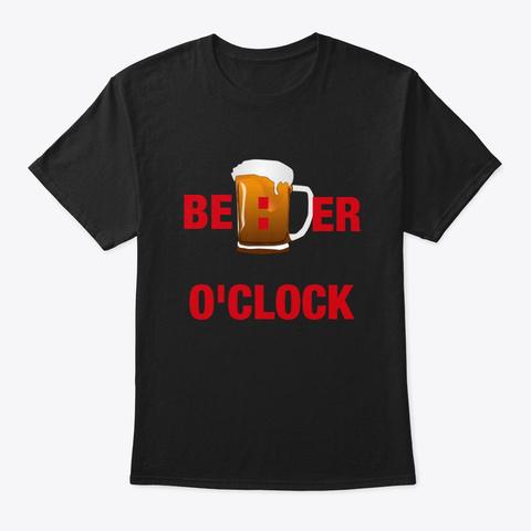 Beer O'clock Black T-Shirt Front