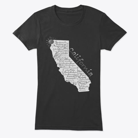 California Parchment  Vintage Black T-Shirt Front
