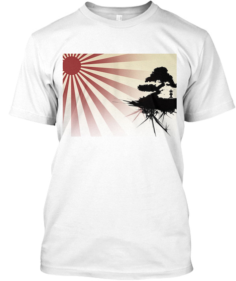 Japanese Sunset White T-Shirt Front