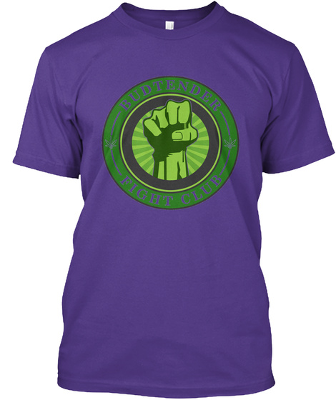 Budtender Fight Club : Cannabis Educa... Purple T-Shirt Front