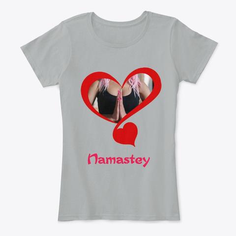 Namaste Female Grey T-Shirt Front
