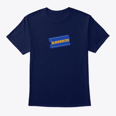 Blockbuster Nostalgia Navy T-Shirt Front