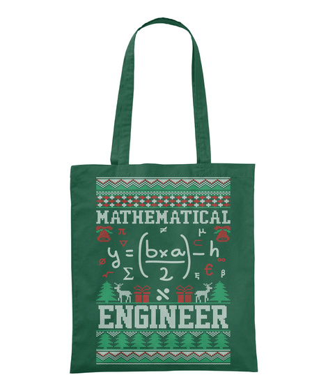 Mathematical Y=Bxa 2 H % Engineer Bottle Green T-Shirt Front