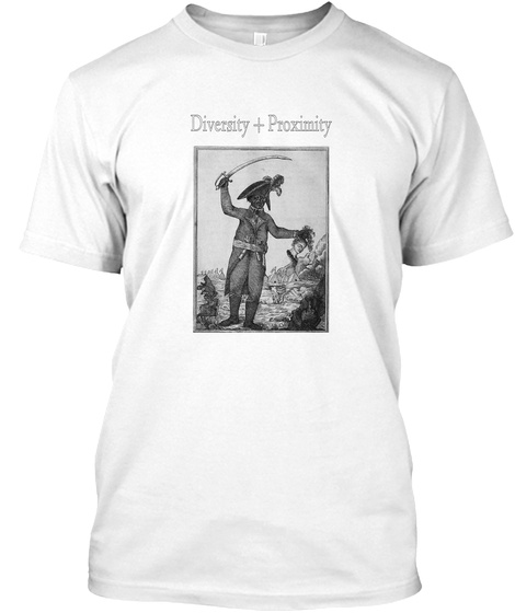 Diversity + Proximity White T-Shirt Front