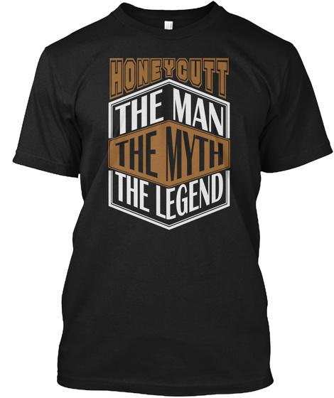 Honeycutt The Man The Legend Thing T Shirts Black T-Shirt Front