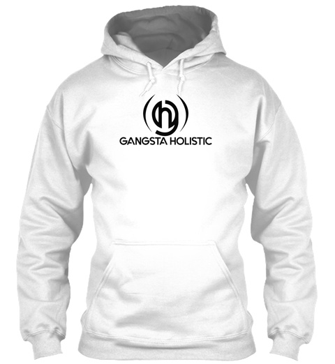Gangsta Holistic White Hoodie White T-Shirt Front