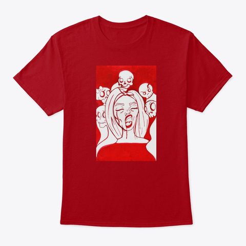 Possessed  Deep Red T-Shirt Front
