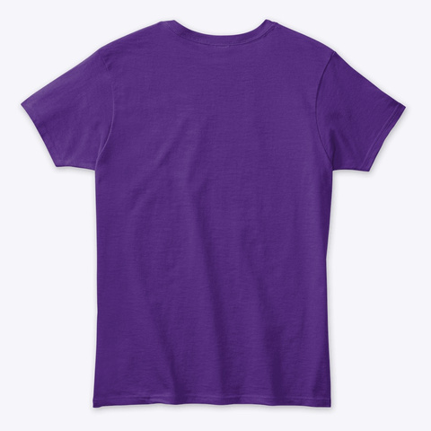 Tiger And Saint Purple T-Shirt Back