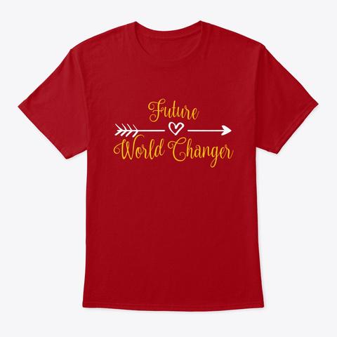 Future World Changer Selfie Tee Deep Red T-Shirt Front