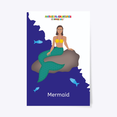 Mermaid – 'R' Amazing Poster Standard T-Shirt Front