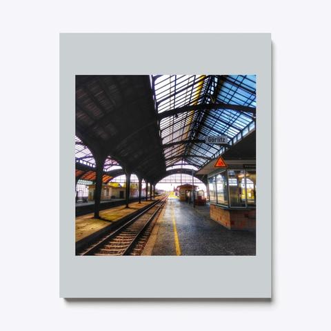 Trainstation Light Grey T-Shirt Front