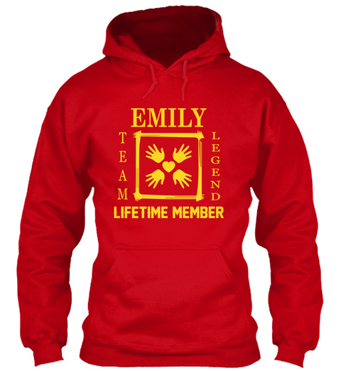Team Emily Family Red T-Shirt Front