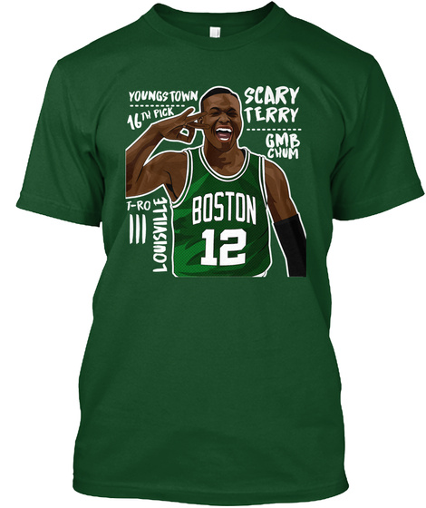 Youngs Town 16th Pick Scary Terry Gmb Chum T Ro Louisville Boston 12 Deep Forest T-Shirt Front