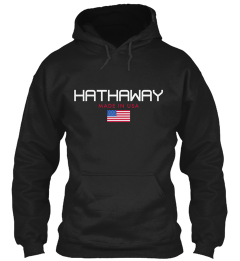 Hathaway Made In Usa Black T-Shirt Front