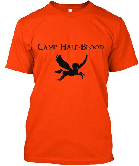 Camp Half Blood T Shirt Orange T-Shirt Front