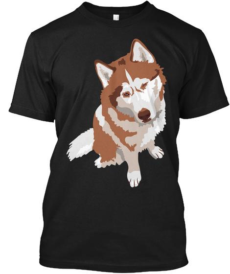 Siberian Husky Ralph Black T-Shirt Front