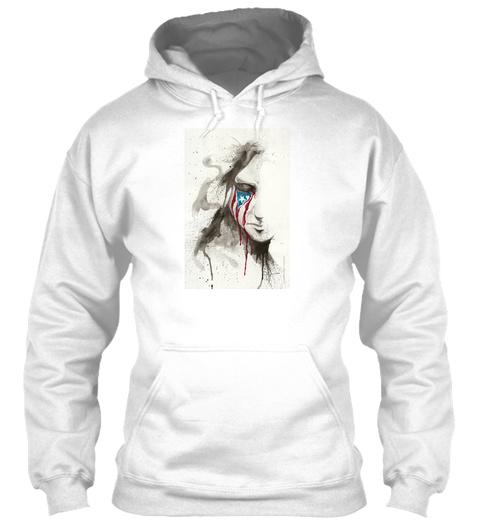 La Borinqueña Llora   Sweatshirt   Front White Camiseta Front