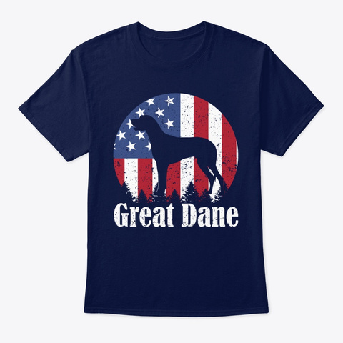 Great Dane American Flag T Shirt Navy T-Shirt Front