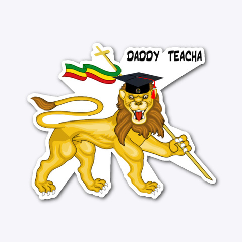 Daddy Teacha Lion 2 Standard T-Shirt Front
