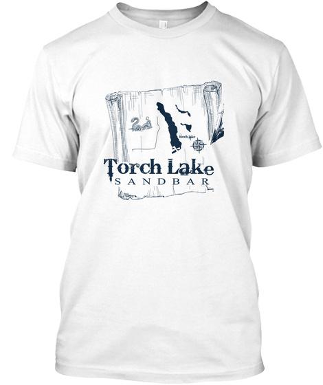 Torch Lake Sandbar Summer 2019 White T-Shirt Front