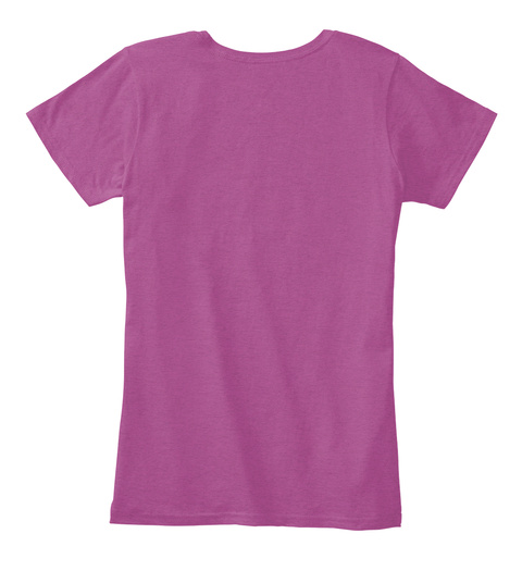 Let It Go Purple Heathered Pink Raspberry Women's T-Shirt Back