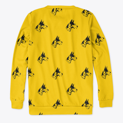 Yellow Great Dane Pattern Sweatshirt Standard T-Shirt Back