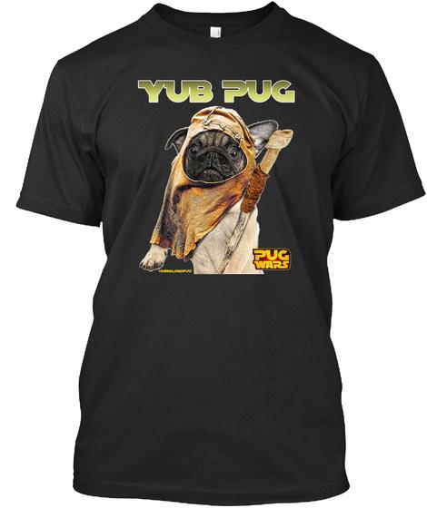 Yub Pug Black Camiseta Front