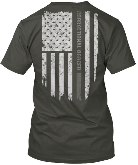 Correctional Officer Smoke Gray T-Shirt Back