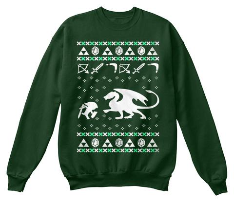 Zelda Christmas Sweater Deep Forest  Sweatshirt Front