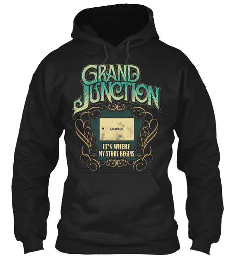 Grand Junction Black T-Shirt Front